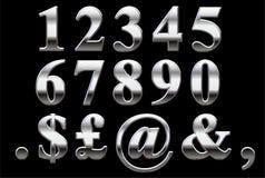 Chromserif-Zahlen Lizenzfreie Stockfotografie