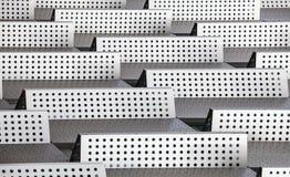 Chromu 3d tła abstrakcjonistyczny nowożytny wzór kropkuje bariery Obrazy Stock