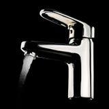 Chromu faucet Obraz Royalty Free
