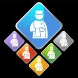 chromu klienta diamentowa ikon usługa royalty ilustracja