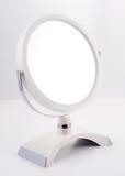 chromu lustrzany round stojak zdjęcie stock