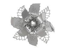 Chromu metalu 3D kwiatu ilustracyjny rendering Royalty Ilustracja