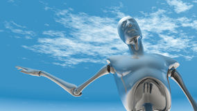 Chromu robot Fotografia Royalty Free