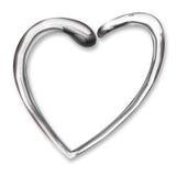 chromu serca ciecz Zdjęcia Royalty Free