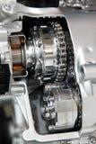 chromu silnika srebro Obrazy Stock