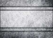 Chromu talerz na metal kropki tle, 3d, ilustracja Obrazy Royalty Free