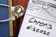 Chron Disease. Written in a medical form Stock Photography