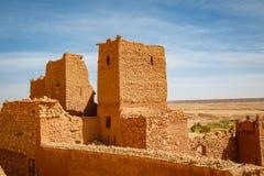 Chroniąca część forteca Ait Ben Haddou Zdjęcie Royalty Free