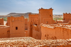 Chroniąca część forteca Ait Ben Haddou Obraz Stock