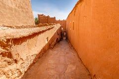 Chroniąca część forteca Ait Ben Haddou Obraz Royalty Free