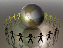 chronić świat razem ilustracji