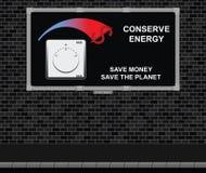 Chroni energetyczną reklamową deskę royalty ilustracja