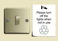 chroni energię ilustracja wektor