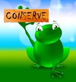 Chroni Szyldowych przedstawień konserwacji 3d Naturalną ilustrację royalty ilustracja