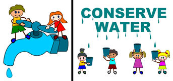 chroni wodę royalty ilustracja