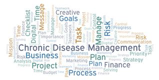 Chronic Disease Management word cloud, made with text only. Chronic Disease Management word cloud, made with text only stock illustration