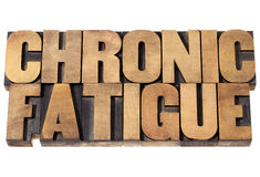 Chronic fatigue in wood type Stock Photo