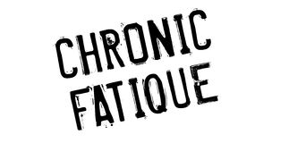 Chronic Fatique rubber stamp Stock Image