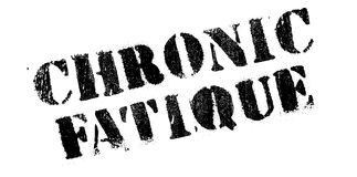 Chronic Fatique rubber stamp. Grunge design with dust scratches. Effects can be easily removed for a clean, crisp look. Color is easily changed Stock Photos
