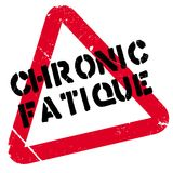 Chronic Fatique rubber stamp. Grunge design with dust scratches. Effects can be easily removed for a clean, crisp look. Color is easily changed Royalty Free Stock Image
