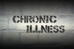 Chronic illness gr. Chronic illness stencil print on the grunge white brick wall stock photos