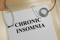 Chronic Insomnia - medical concept Royalty Free Stock Photo