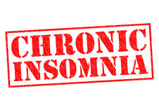CHRONIC INSOMNIA. Red rubber Stamp over a white background Stock Photo