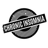 Chronic Insomnia rubber stamp Stock Photos