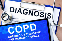 Chronic obstructive pulmonary disease (COPD) Royalty Free Stock Photos