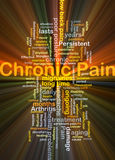 Chronic pain background concept glowing Stock Photography
