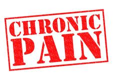 CHRONIC PAIN. Red Rubber Stamp over a white background Royalty Free Stock Photos