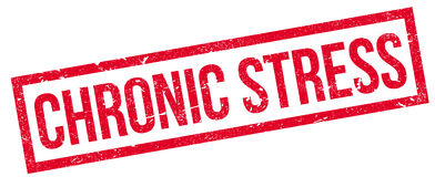 Chronic Stress rubber stamp Royalty Free Stock Image