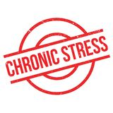 Chronic Stress rubber stamp Royalty Free Stock Photo