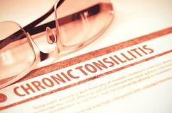 Chronic Tonsillitis. Medicine. 3D Illustration. Royalty Free Stock Image