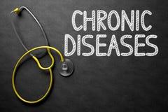 Chroniczne Choroby Ręcznie pisany na Chalkboard ilustracja 3 d zdjęcia royalty free