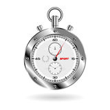 Chrono over white Royalty Free Stock Images