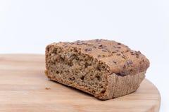 Chrono selbst gemachtes Brot mit Kopienraum Stockfotografie