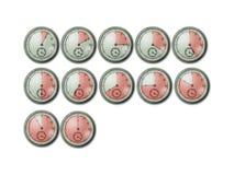 Chrono Timer-Stoppuhr-Borduhren Stockbilder