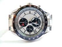 Chrono wrist watch. A macro of a Chrono wrist watch Royalty Free Stock Images