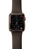 Chronograph ρολογιών της Apple οθόνη προσώπου Στοκ φωτογραφία με δικαίωμα ελεύθερης χρήσης