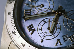 Chronograph 12 Stockbild