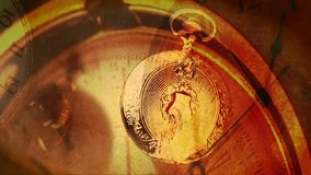 Pocket watch stock footage
