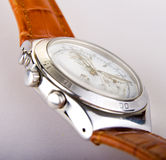 Chronograph with leather strap Stock Images