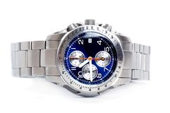 Chronograph watch. In white background Stock Photos