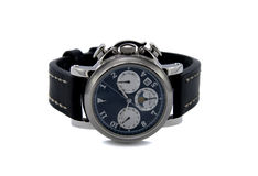 Chronograph watch. Isolated white background Royalty Free Stock Photos