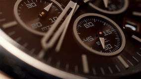 Chronograph Watch. With Additional Arrows. Extra Close Up stock video