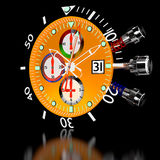 Chronograph Watch. 3d luxury watches in chronograph Stock Photos