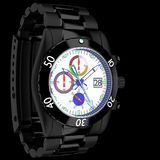 Chronograph Watch. 3d wristwatch chronograph men in the background Royalty Free Stock Photography
