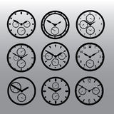 Chronograph watch dials eps10. Black chronograph watch dials eps10 Royalty Free Illustration