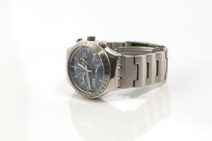 Chronograph watch isolated on. White stock photo